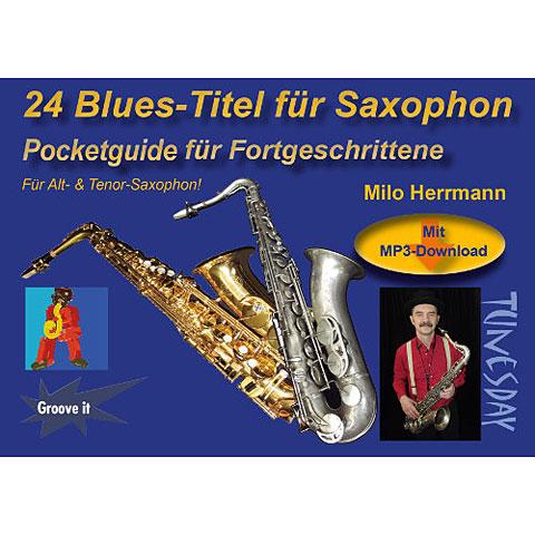 Notenbuch Tunesday Pocketguide - 24 Blues-Titel für Saxophon