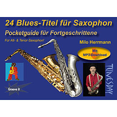 Tunesday Pocketguide - 24 Blues-Titel für Saxophon « Libro de partituras