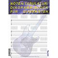 Сольфеджио Tunesday Noten/Tabulatur/Diagramm-Block für Gitarristen