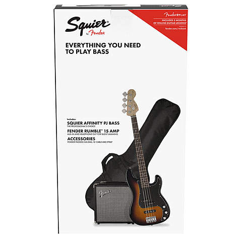 E-Bass Set Squier Affinity PJ Bass Pack BSB