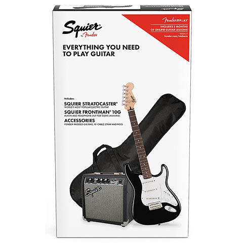 Set guitarra eléctrica Squier Stratocaster® Pack BK