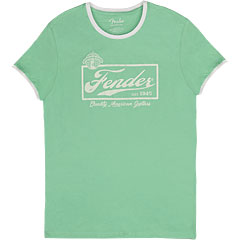 Fender Beer Label Ringer SFG/WT M « T-Shirt