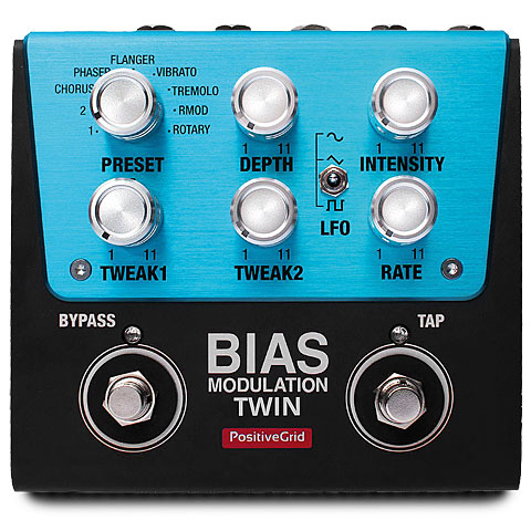 Pedal guitarra eléctrica Positive Grid BIAS Modulation Twin