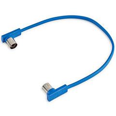 RockBoard Flat MIDI Cable 30 cm Blue « Cable MIDI