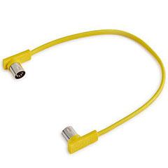 RockBoard Flat MIDI Cable 30 cm Yellow