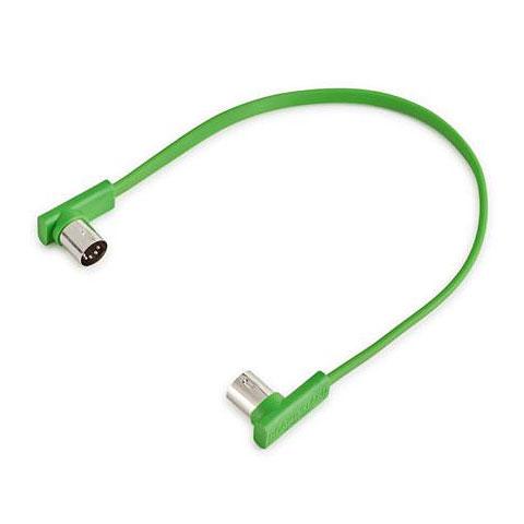Cable MIDI RockBoard Flat MIDI Cable 30 cm Green