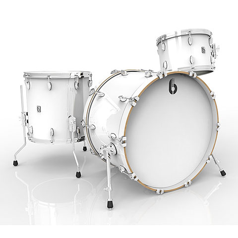 "Batterie acoustique British Drum Co. Legend 22"" Piccadilly White Shellset"