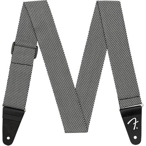 Correas guitarra/bajo Fender Modern Tweed Strap White Black 5 cm