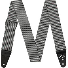 Fender Modern Tweed Strap White Black 5 cm « Schouderband