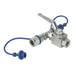 Showtec CO2 3/8 Q-lock release valve « Accessori Effetto da palco