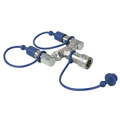 Showtec CO2 3/8 Q-Lock 2-way combiner « Accesor. efecto escenario