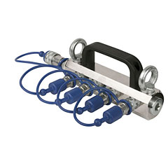 Showtec CO2 3/8 Q-Lock 4-way distributor « Podiumeffect Accessoires