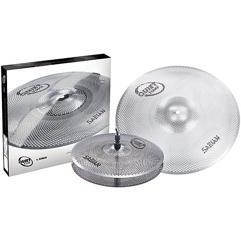 Pack de cymbales Sabian Quiet Tone 13/18 Low Volume Practice Cymbal Set