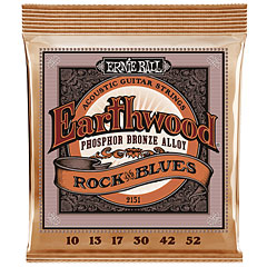 Ernie Ball Earthwood Rock and Blues Phosphor Bronze 2151 .010-052 « Corde guitare folk