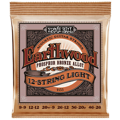 Saiten Westerngitarre Ernie Ball Earthwood 12-String Light Phosphor Bronze 2153 .009-046