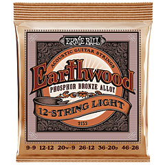 Ernie Ball Earthwood 12-String Light Phosphor Bronze 2153 .009-046 « Corde guitare folk