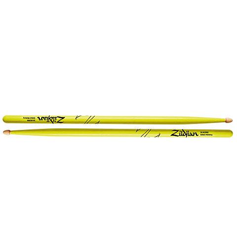 Baquetas para batería Zildjian Hickory 5AW Acorn Neon Yellow