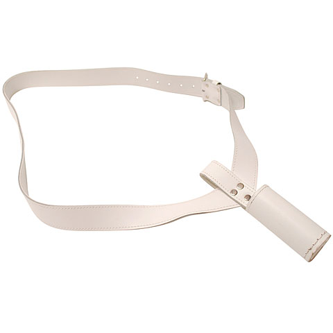 Drum Straps Bold 0310 Marching Bell Lyre Leather Sling White