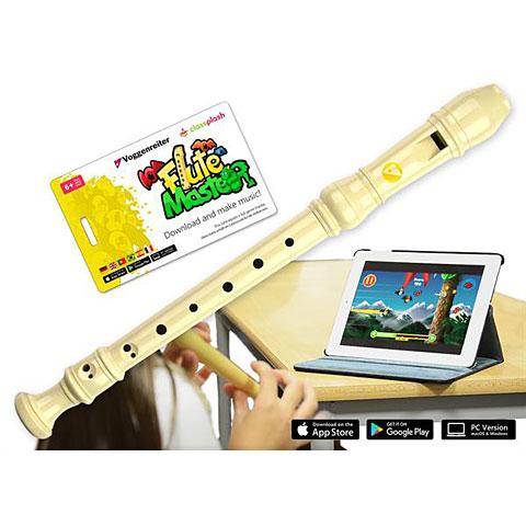 Flauta dulce soprano Voggenreiter Flute Master - plastic recorder plus interactive Music Software