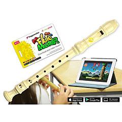 Voggenreiter Flute Master (App) mit Blockflöte aus Kunststoff (bar. Griffweise) « Flûte à bec soprano