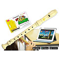 Sopran-Blockflöte Voggenreiter Flute Master (App) mit Blockflöte aus Kunststoff (bar. Griffweise)