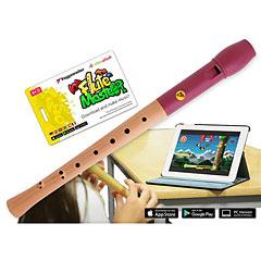 Voggenreiter Flute Master (App) mit Blockflöte aus Holz-Kunststoff (bar. Griffweise) « Flûte à bec soprano
