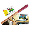 Flauta dulce soprano Voggenreiter Flute Master (App) mit Blockflöte aus Holz-Kunststoff (bar. Griffweise)