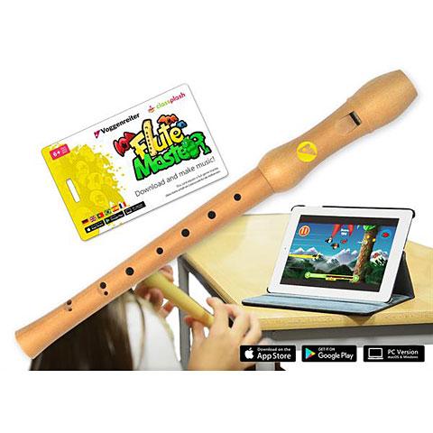 Flûte à bec soprano Voggenreiter Flute Master - wood recorder plus interactive Music Software