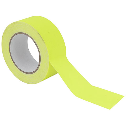 Eurolite Gaffa Tape 50 mm neon-yellow uv active