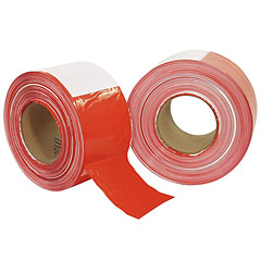 Eurolite Barrier Tape red/wh 500 m x 75 mm « Kleefband