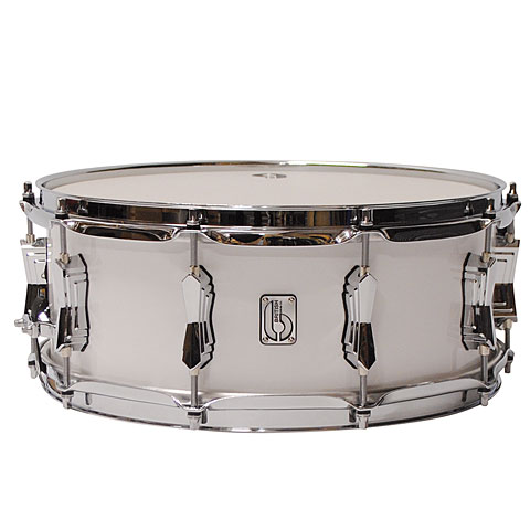 "Snare Drum British Drum Co. Legend 14"" x 5,5"" Picadilly White Snare"
