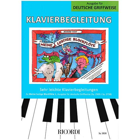Libros didácticos Ricordi Meine lustige Blockflöte Bd.1 Klavierbegleitung dt