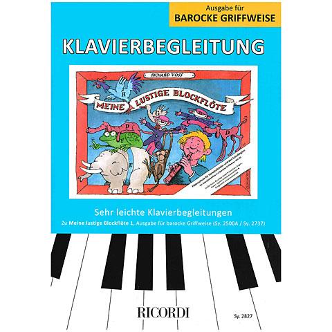 Libros didácticos Ricordi Meine lustige Blockflöte Bd.1 Klavierbegleitung ba