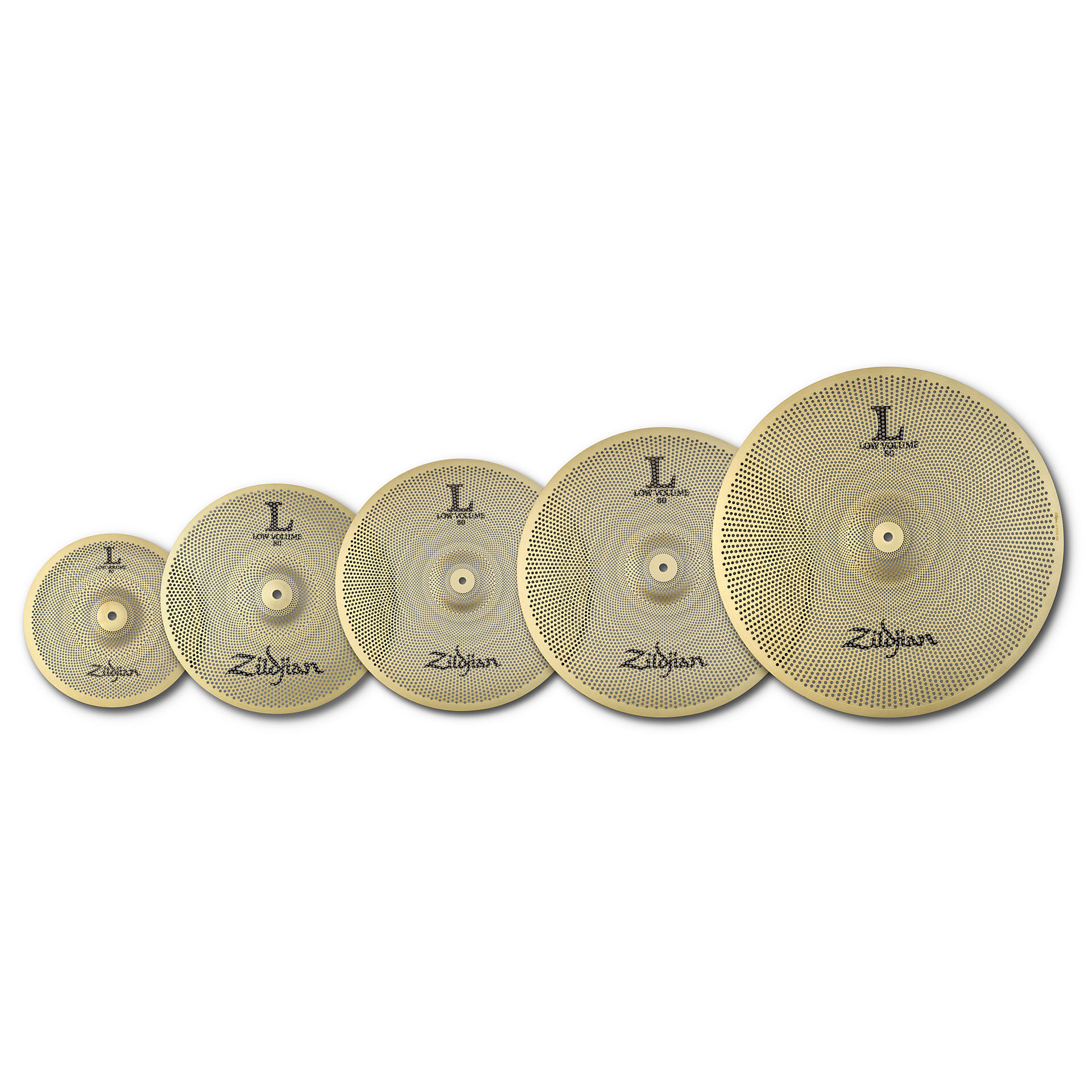zildjian l80 low volume 468 full pack 10 14 16 18 20 cymbal set. Black Bedroom Furniture Sets. Home Design Ideas