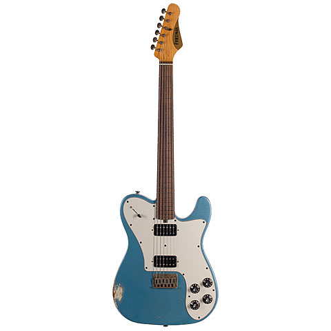 Friedman Vintage T Metallic Blue, HH « Guitare électrique