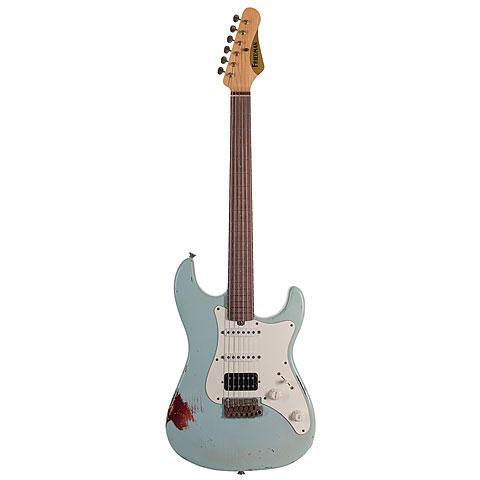 Friedman Vintage-S, Sonic Blue over 3Tone Sunburst, HSS « E-Gitarre