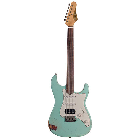 Friedman Vintage-S,Surf Green over 3Tone Suburst, HSS