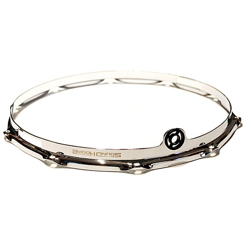 """Anillos ajuste SoundHoops Pro 14"""" Chrome Snare Side Hoop 10 Holes"""