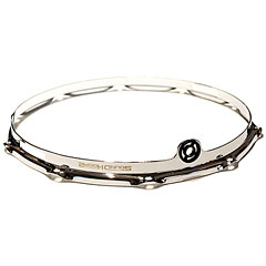 "SoundHoops Pro 14"" Chrome Snare Side Hoop 10 Holes « Cercles"
