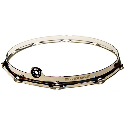 "Anillos ajuste SoundHoops Pro 14"" Chrome Snare Batter Side Hoop 10 Holes"