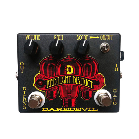 Effektgerät E-Gitarre Daredevil Pedals Red Light District