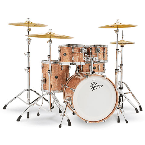 "Batería Gretsch Drums Renown Maple 20"" Copper Premium Sparkle Shell Set"