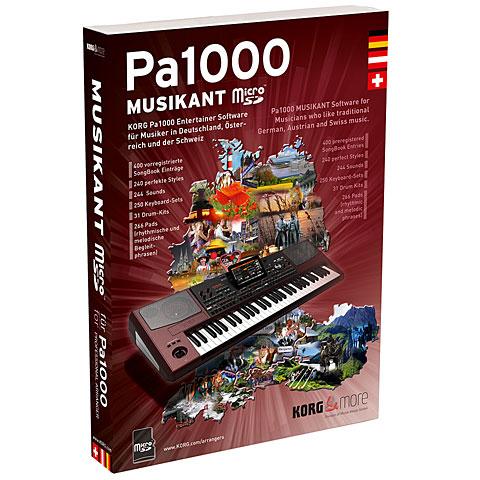 Erweiterungssoftware Korg Pa1000 Musikant Micro SD