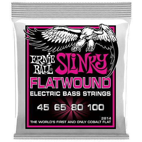 Cuerdas bajo eléctrico Ernie Ball Super Slinky Flatwound 2814 .045-100