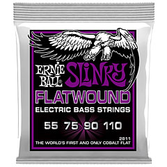 Ernie Ball Power Slinky Flatwound 2811 .055-110 « Cuerdas bajo eléctrico