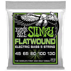 Ernie Ball Regular Slinky 5-String Flatwound 2816 .045-130 « Cuerdas bajo eléctrico