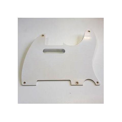 GuitarSlinger Pickguard 50's Tele 1 Ply White