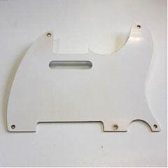 GuitarSlinger Pickguard 50's Tele 1 Ply White « Pickguard