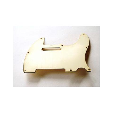 GuitarSlinger Pickguard 60's Tele 3 Ply Parchment