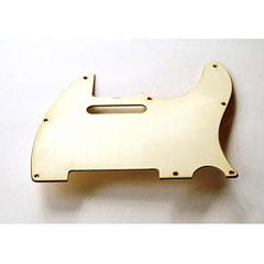 GuitarSlinger Pickguard 60's Tele 3 Ply Parchment « Pickguard